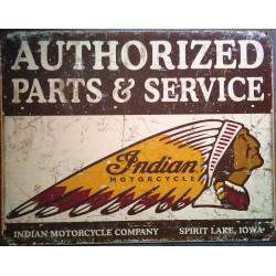 plaque indian parts vieilli...