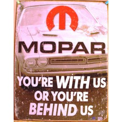 plaque mopar you're with us...