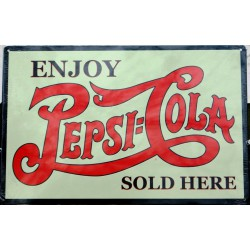 plaque pepsi cola enjoy...