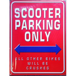 plaque scooter parking only...