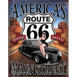 plaque americas route 66...