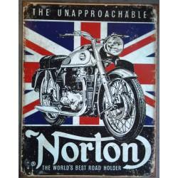 plaque moto norton...