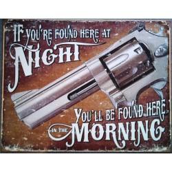 plaque flingue pistolet...