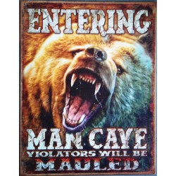 plaque humour man cave ours...