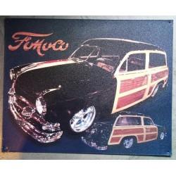 plaque fomoco woody noir...