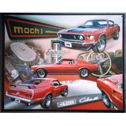 plaque ford mustang mach 1...