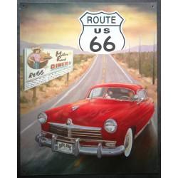 plaque route 66 mother road...