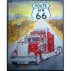 plaque route 66 et truck...