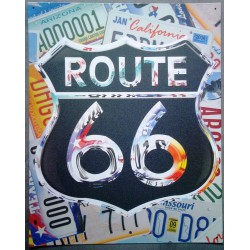 plaque route 66 collage...