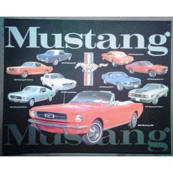 plaque ford mustang collage...