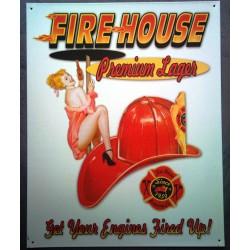 plaque casque pompier et...