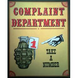 plaque grenade complaint...