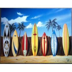 plaque 7 planche de surf...