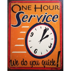 plaque one hours service...