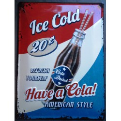 plaque ice cold cola tole...