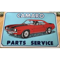 plaque camaro parts service...