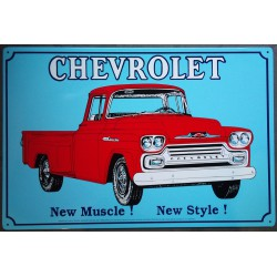 plaque chevrolet pick up...
