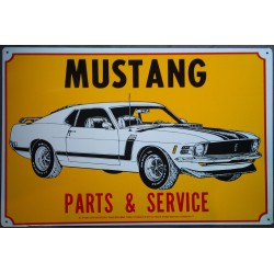 plaque ford mustang 302...
