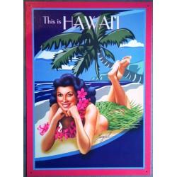 plaque hulla girl hawaïi...