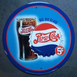 plaque pepsi cola big big...