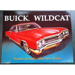plaque buick wildcat rouge...