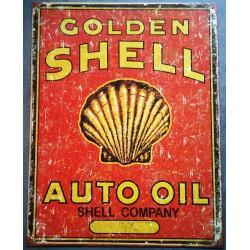 plaque golden shell rect...