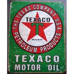 plaque texaco motor oil...