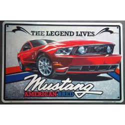 plaque ford mustang...