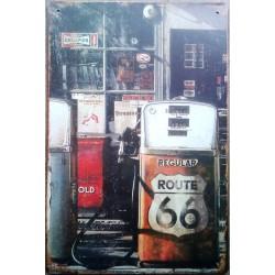 plaque route 66 pompe a...