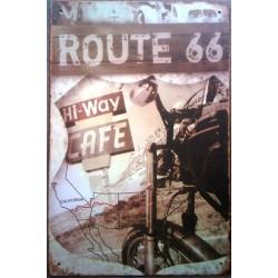 plaque route 66 hi way café...