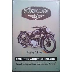 plaque moto zundapp modell...