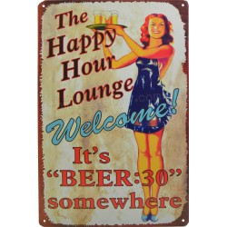 plaque pin up happy hour...