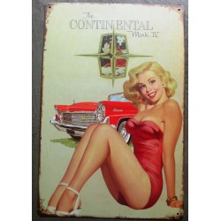 plaque pin up blonde...