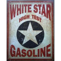 plaque white star gasoline...
