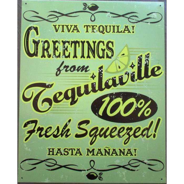 Plaque Bar Viva Tequila Ville Deco Diner Café Cuisine Alcool