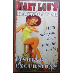 plaque pin up mary lou's à...