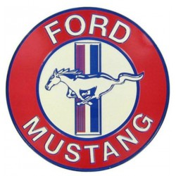 plaque ford mustang ronde...