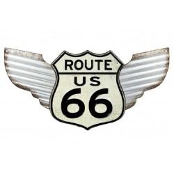 plaque route 66 ailé...