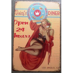 plaque pin up daisy's diner...