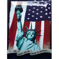 plaque statue de la liberté...