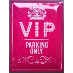 plaque VIP rose tole bombée...