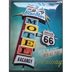 plaque motel route 66 usa...