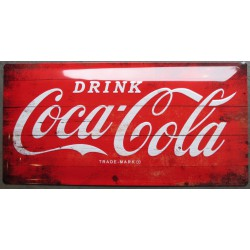 plaque coca cola  rouge...