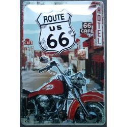 plaque route 66 et harley...