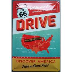 plaque route 66 drive...