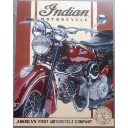 plaque moto indian bordeau...
