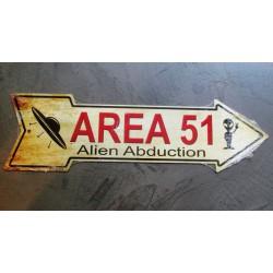 plaque area 51 fleche tole...