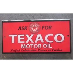 plaque texaco ask motor oil...