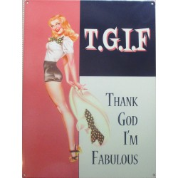plaque TGIF pin up thanks...