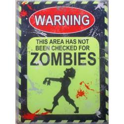 plaque warning zombie zone...